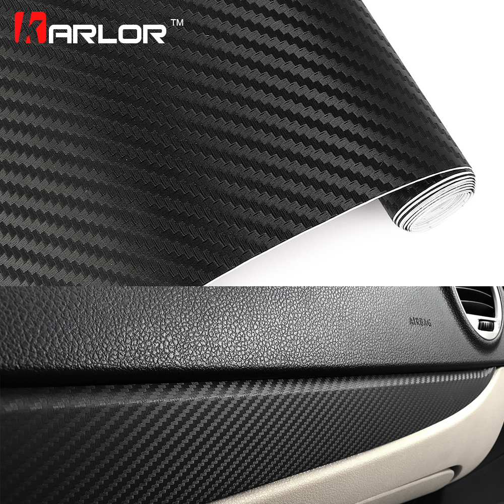 Car Styling 80*600cm DIY Waterproof 3D Car Carbon Fiber Vinyl Wrapping Foil Sheet Roll Decorative Film Paper Auto Car Stickers