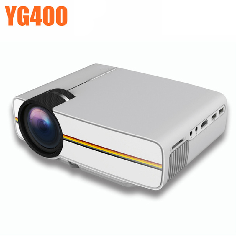 YG300 Upgrade YG400 Led Projector HD TV Beamer For Home Theatre Movie Video Games AC3 HDMI VGA AV SD USB YG-400 Led Proyector aun projector e07 for home theatre education of children 640 480 pixels led projector set in hdmi vga usd prot 1080p led tv