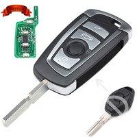 EWS Modified Flip Remote Key 4 Button 315MHz 433MHz PCF7935AA ID44 Chip For BMW E38 E39