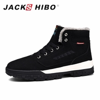 JACKSHIBO Winter Mens Shoes Large Sizes Mens Thick Sole Shoes Casual for Men Sneakers High Top Snow Shoes Bot Chaussure Homme