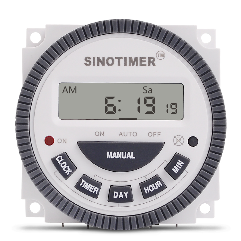 1NO + 1NC Volt free Output, 16A Time Relay Control 220V 230V 240V 7 Days Programmable Digital Timer Switch with Protective COVER digital timer 220v 16a time relay control 16a breaker with weather proof box