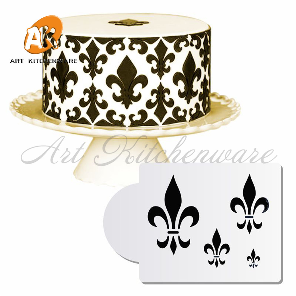 Aliexpress Fleur De Lis Cake Stencil Fondant Plastic Stencils For Painting Decoration Cupcake Template Decorating Tools From