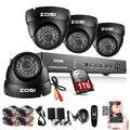 ZOSI 1000TVL 4 PCS CCTV Sistema de Câmera de Segurança 8CH DVR Outdoor Dia/Noite IR Dome Camera Kit DIY Vídeo Sistema de vigilância 1 TB