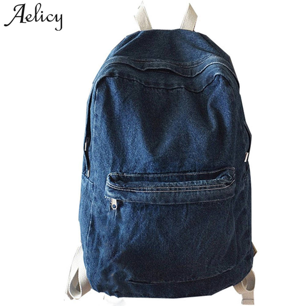 Aelicy Unisex Fashion Denim Women Canvas Backpacks School Bags for Girl Casual Retro Teenage Backpacks for Girls Mochila EscolarAelicy Unisex Fashion Denim Women Canvas Backpacks School Bags for Girl Casual Retro Teenage Backpacks for Girls Mochila Escolar