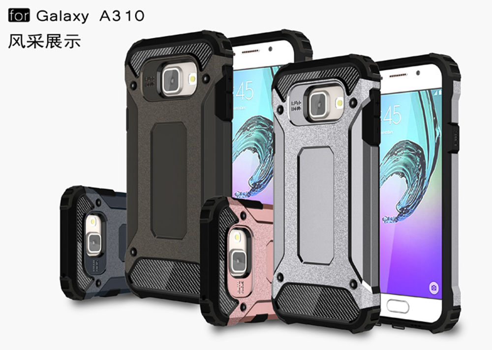 PC Armor TPU Case for Samsung Galaxy A3 2016 A310 A310F A310F/DS SM-A310F SM-A310 Silicon Anti-Shock Hard Protection phone Cover