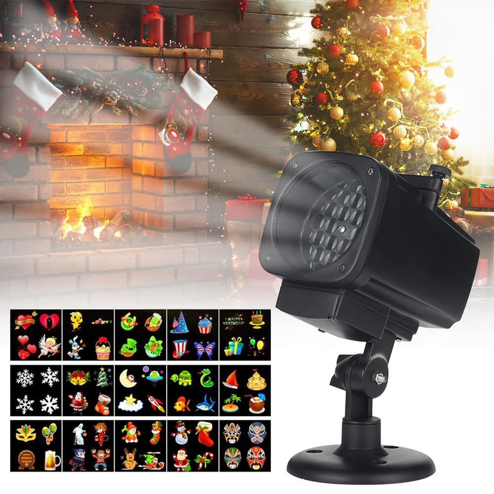 Dynamic Super Bright Christmas Laser Snowflake Projector Outdoor LED Waterproof Lawn Lights Home Garden Indoor Decoration
