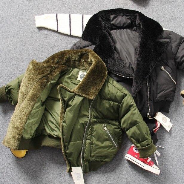 Warme Zwarte Winterjas.Alleen Winterjas 1 St 2 8y Nieuwe 2017 Winter Katoen Gewatteerde
