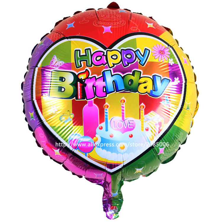 25pcs/lot new hot 18 inches aluminum Cartoon Happy Birthday balloons party decor