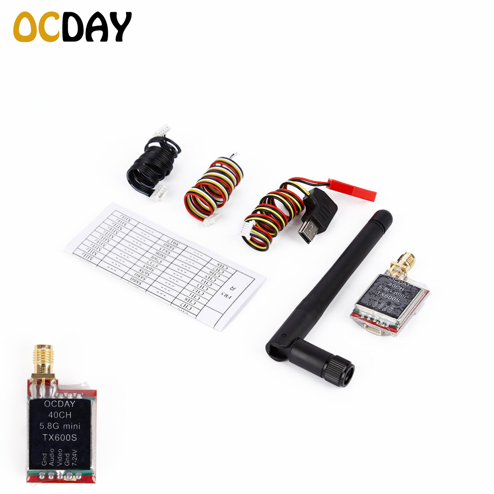 1pcs OCDAY FPV 5.8G 40CH TX600S TX200R 7-24V Wireless AV Image Transmitter askent s 7 1 tx