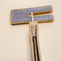 1PC Self Wringing Double Sided Flat Mop Telescopic Comfortable Handle Mop 360 Degrees Cleaning Mop Cleaning Tool For Living Room