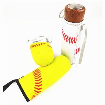 60pcs Baseball Sport Water Bottle Cover Neoprene Insulator Cup Sleeve Bag Case Pouch WB286