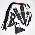5pcs/set AAA  Sexy pu Leatehr Body Barness Bondage Kit, Handcuffs Mouth Gag Whip Sex Mask Pants Fetish Bdsm Bondage Women Toys