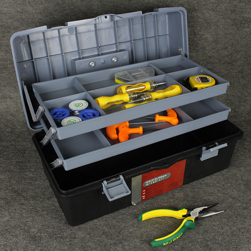 Strong and durable Plastic tool case Manual toolbox  maintenance tool boxes Folding tools storage box Portable storage box hiinst black portable and durable waterproof portable carrying storage aluminum alloy case box for spark drop aug15