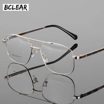 d462995ec2f8 BCLEAR Classic Fashion Alloy Men Optical Frame High Quality Double Bridge  Male Spectacle Eyeglasses Frames Big Face Eyewear Hot