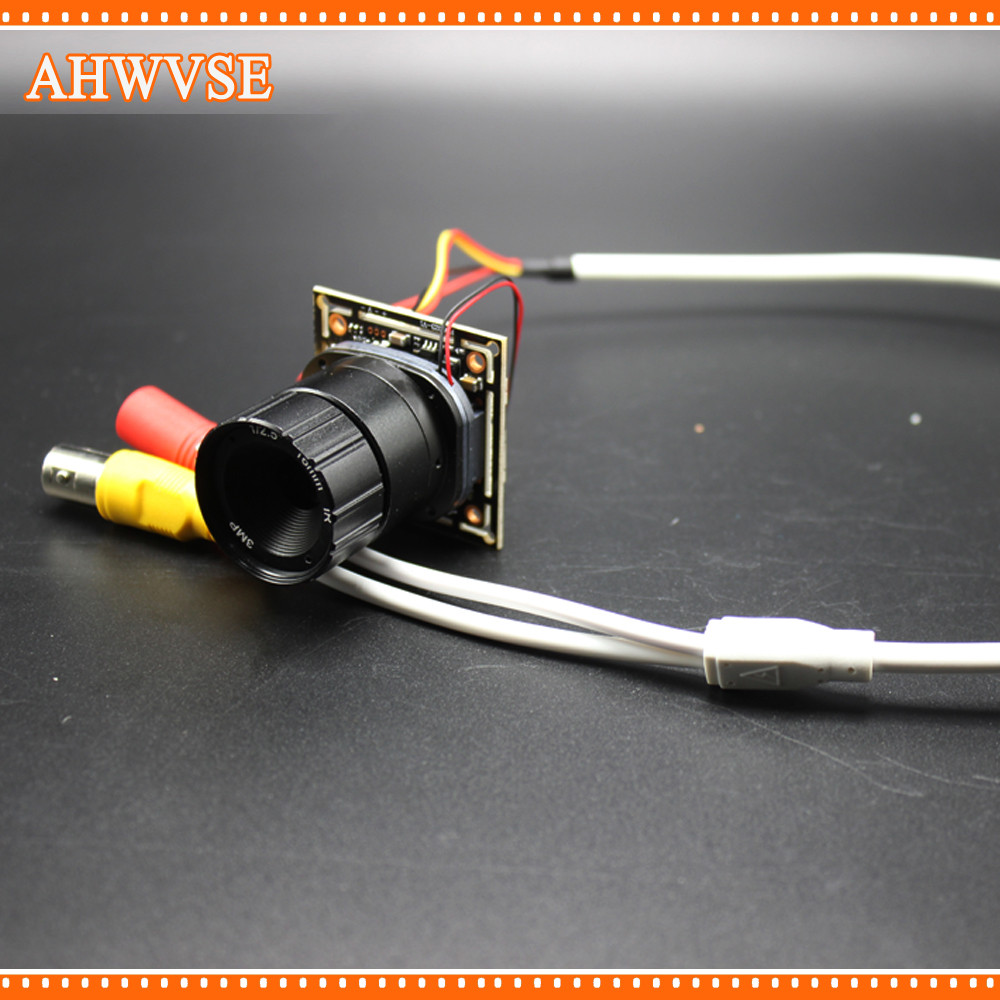 цены AHWVSE Ultra Low Illumination HD AHD Camera Module Board 16mm lens 2MP 720P 1080P Mini CCTV Security Camera For AHD DVR