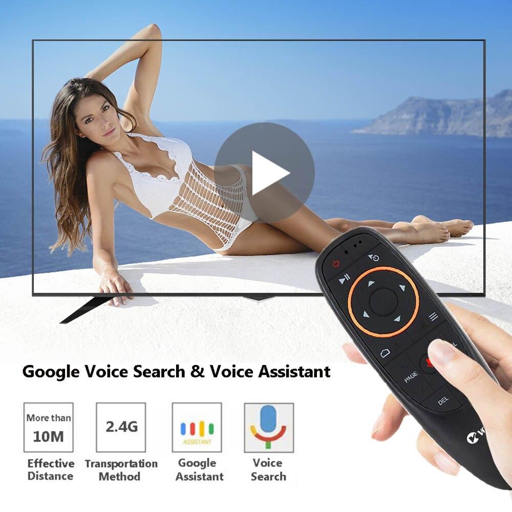G10 Stimme IR Fernbedienung 2,4 Ghz Wireless-Air Maus Mini Kyeboard mit Mic Gyroskop für Android TV Box X96 mini T9 H96 Max PC