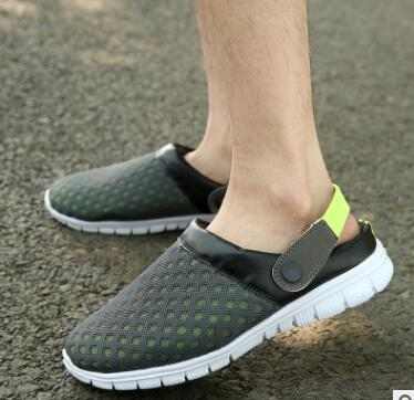 1f57337d57c1e 2018 New Men s Sandals Explosive models Half Slippers Couple Mesh Sandals  Lazy Bird Nest Slippers Large yard Hole shoes-in Men s Sandals from Shoes  on ...