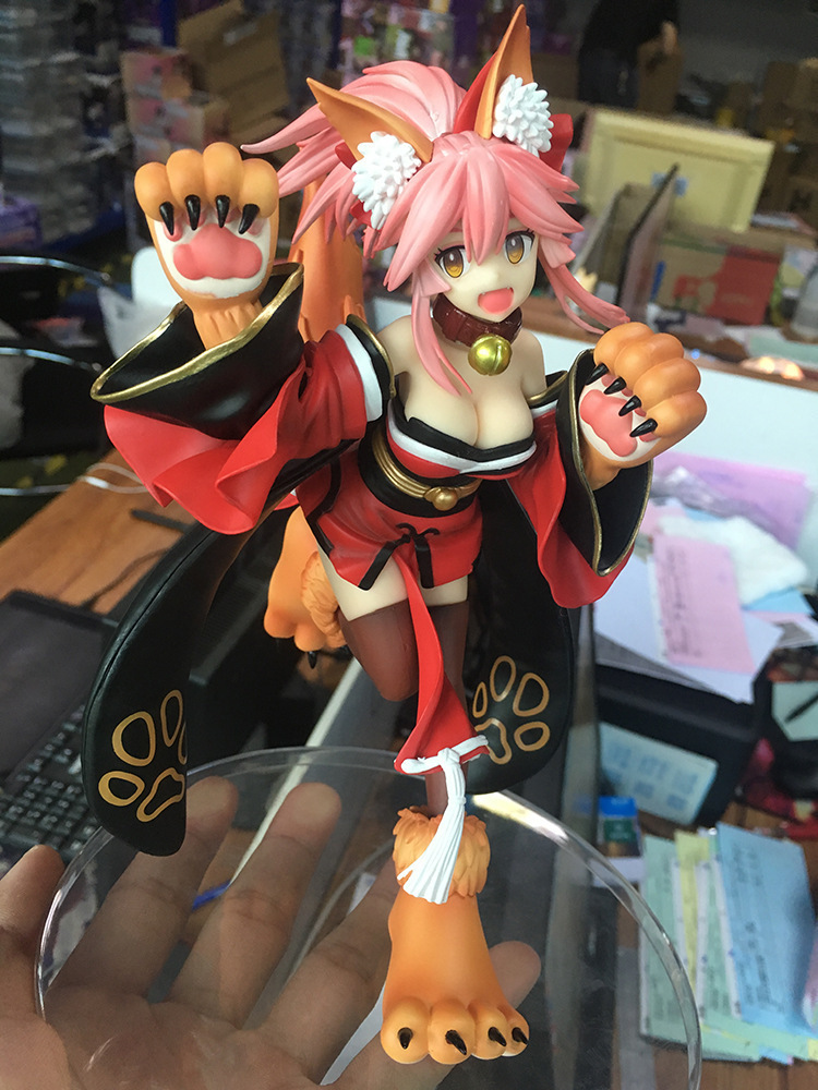 20cm Fate Grand Order FGO Tamamo no Mae Anime Action Figure PVC toys Collection figures for friends gifts new 27cm no base anime card captor sakura mini figures kinomoto sakura daidouji tomoyo pvc action figures toys cardcaptor