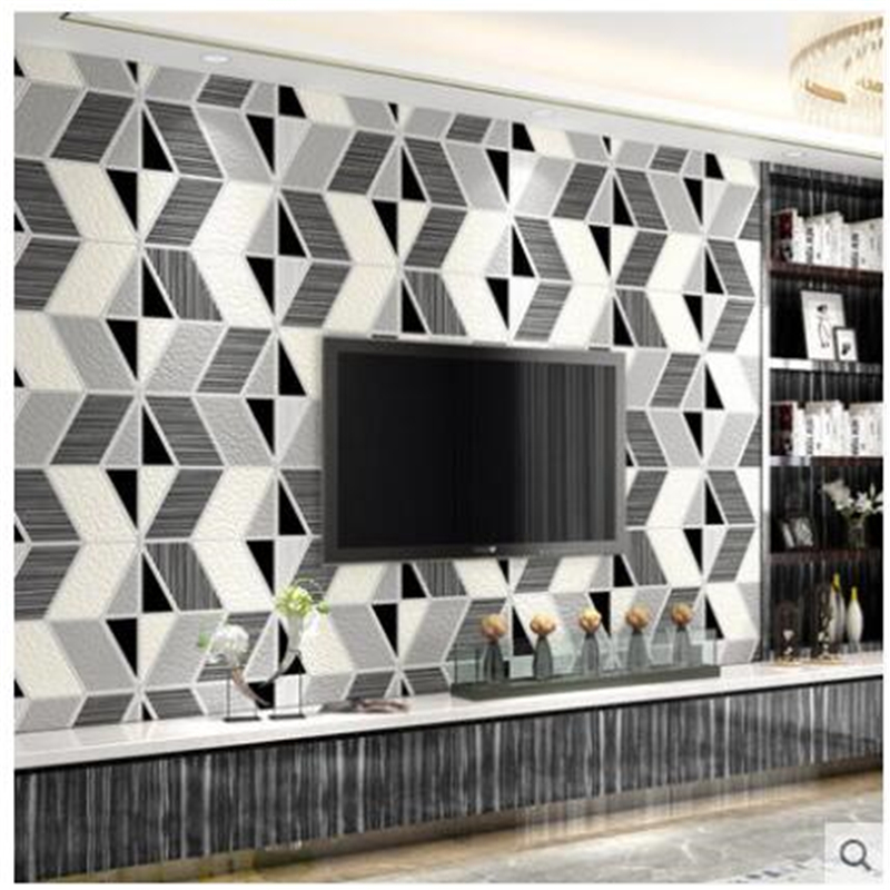 Beibehang papel de parede Modern minimalist wallpaper living room bedroom non - woven deer leather velvet 3D stereo TV backgroun modern minimalist striped glitter wall paper non woven wallpaper for living room sofa tv background wallcovering papel de parede