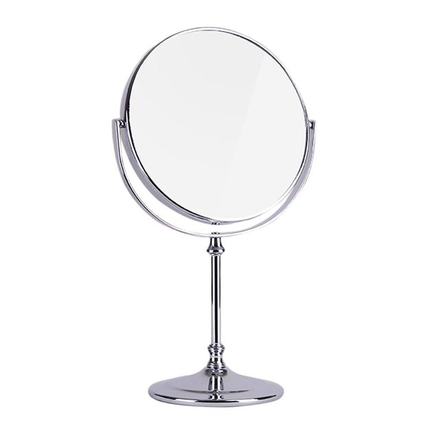 Double Sided Table Mirror High Definition European Style 3 Times Fodable  Magnify Makeup Mirror Small Round