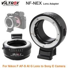 Viltrox NF NEX Lens adaptörü w/tripod bağlama aparatı diyafram halka Nikon F AF S AI G Lens Sony bir kamera A9 a7SII A7RII NEX 7 A6500