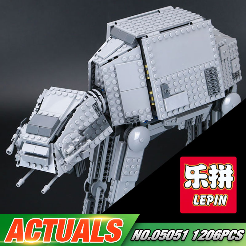 Lepin 05051 Star Series War Force Toys Awaken The AT Model AT Transportation Armored Robot 75054 Building Blocks Bricks Toy herbert george wells the war of the worlds