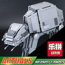 Lepin 05051 Series Estrella Guerra Fuerza Juguetes Despertar El Modelo AT EN Transporte Blindado Robot 75054 Bloques de Construcción de Ladrillos de Juguete