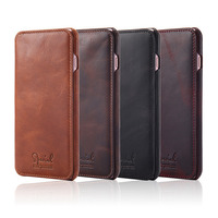 Real Genuine Leather Flip Cover Protect Fundas For Apple IPhone 6 6s 7 Retro Vintage Wallet