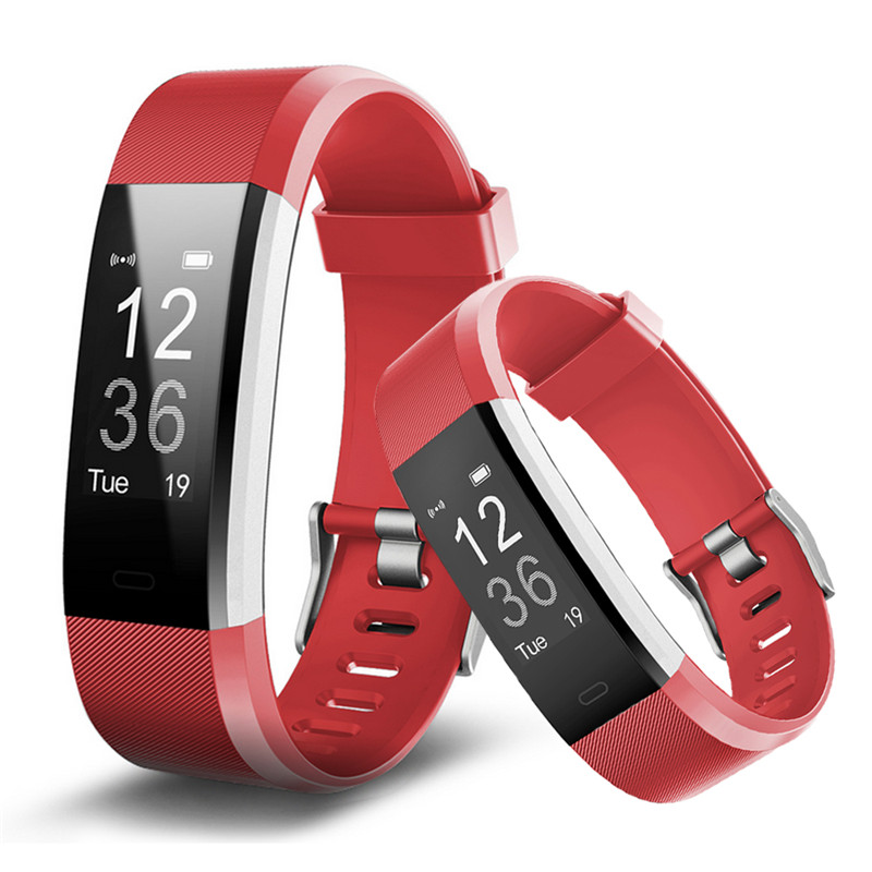 ID115 Bluetooth Smart Wristband for Ios Android Casual Smart Strap Heart Rate Monitor Alarm Clock Men Women Watch OLED Bracelet