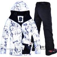 2018 для мужчин лыжная куртка брюки лыжный спорт Сноуборд костюмы брюки ветрозащитный водостойкий уличная спортивная одежда