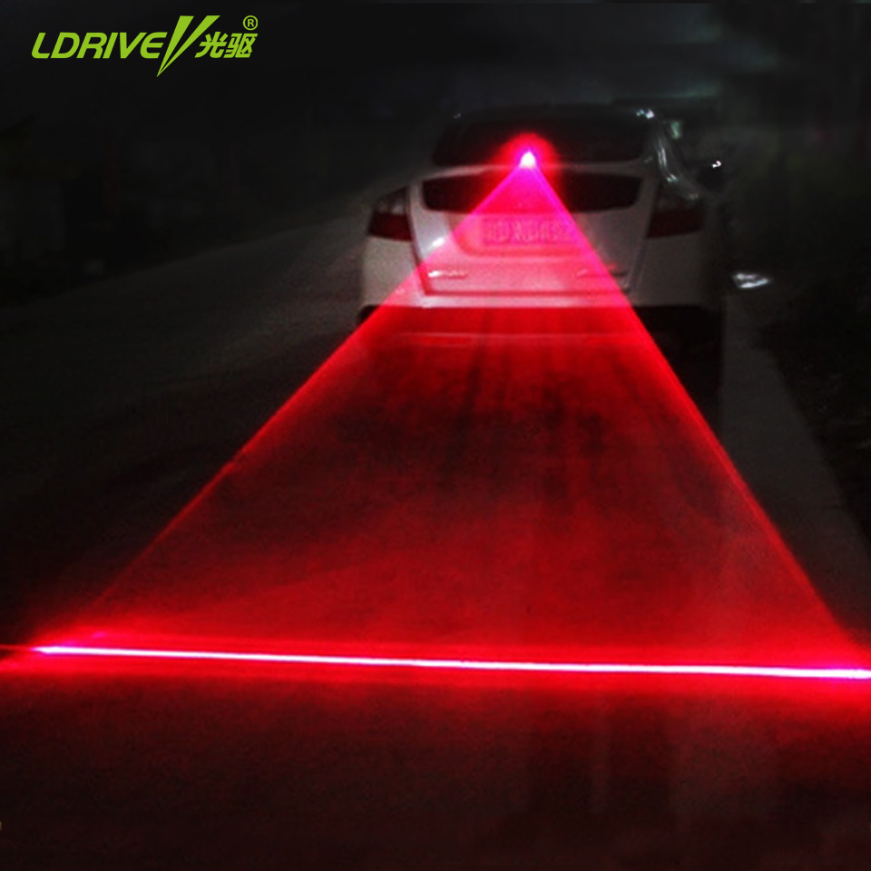 Hot Sale DC 8-36V LED Car Laser Fog Light Rear Anti-Collision Driving Safety Signal Warning Lamp Brake Auto Parking Light traffic signal light module 200mm diameter 8 inch blue road safety light dc 12 v cheap led cluster