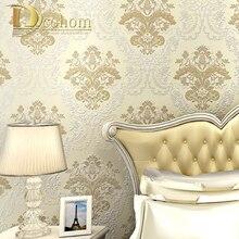 Europischen Luxus Rosa Blau Beige Grn Braun 3D Damasttapete Fr Wnde Wohnzimmer Sofa Decor Geprgte Tapeten