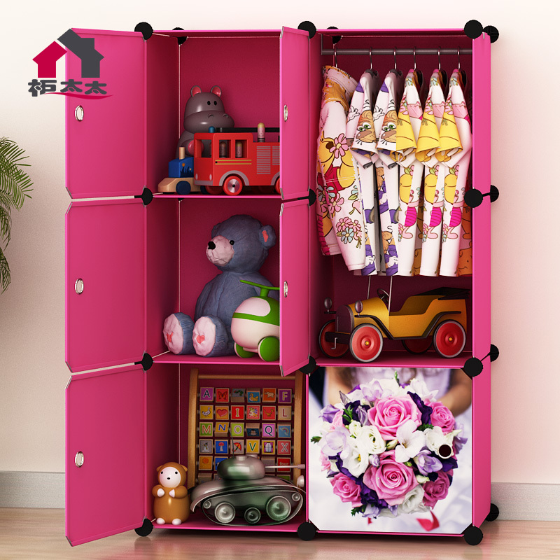 Mrs. Cabinet Assembly Simple Wardrobe Closet Plastic Childrenu0027s Cartoon  Baby Clothes Holding Cabinet In Wardrobes From Furniture On Aliexpress.com    Alibaba ...