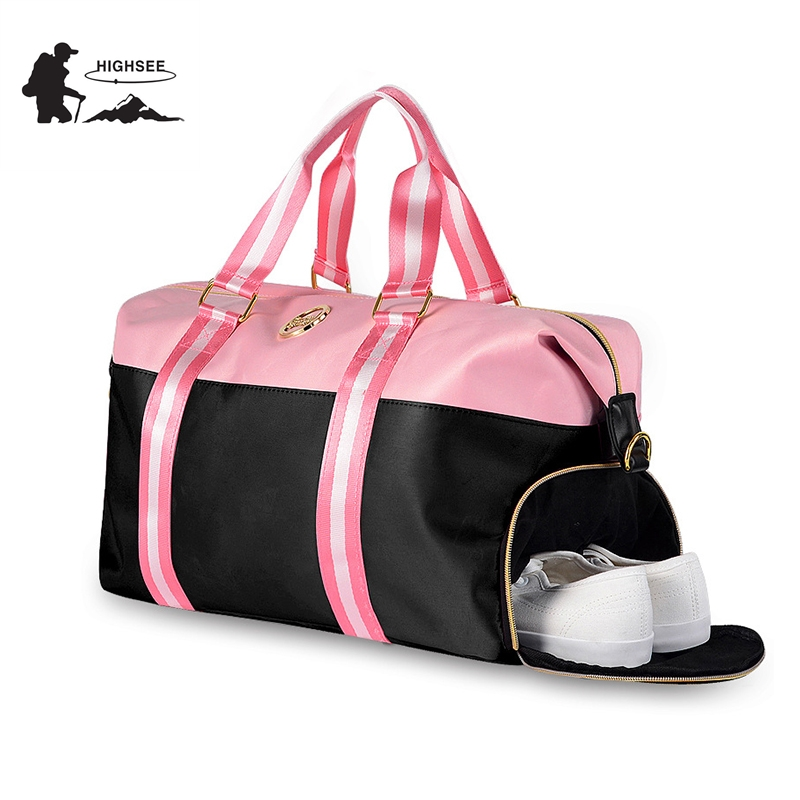96a1fd83 Sport Bag For Fitness Gym Bags Women Training Yoga Bag Sac De Sport Femme  With Shoes Storage Outdoor Travel Shoulder Crossbody