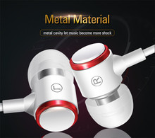 Super Bass Wired Headphone Earphones Sport Music Stereo Metal Earbuds Headset With Microphone For Samsung iPhone Xiaomi