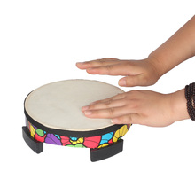 21.1*6.7cm Learning Musical Drum Toy 8 Inch Imitation wool Wooden  Floor Drum Musical Instrument