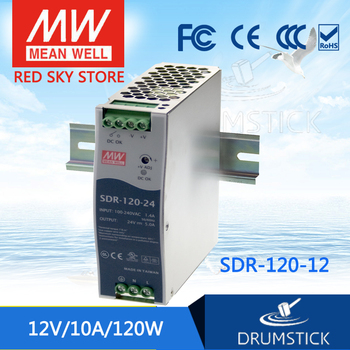 patriotic MEAN WELL SDR-120-12 12V 10A meanwell SDR-120 12V 120W Single Output Industrial DIN RAIL with PFC Function