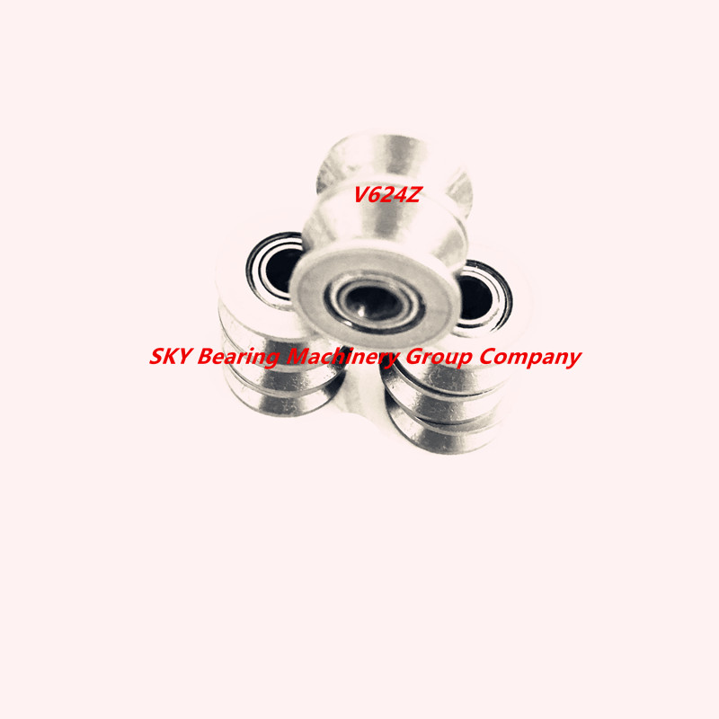 Free shipping 10pcs V624ZZ V groove deep groove ball bearing 4x13x6mm embroidery machine pulley bearing 624V chrome steel free shipping 2pcs v625 90 v625zz v groove deep groove ball bearing 5x16x5mm pulley bearing