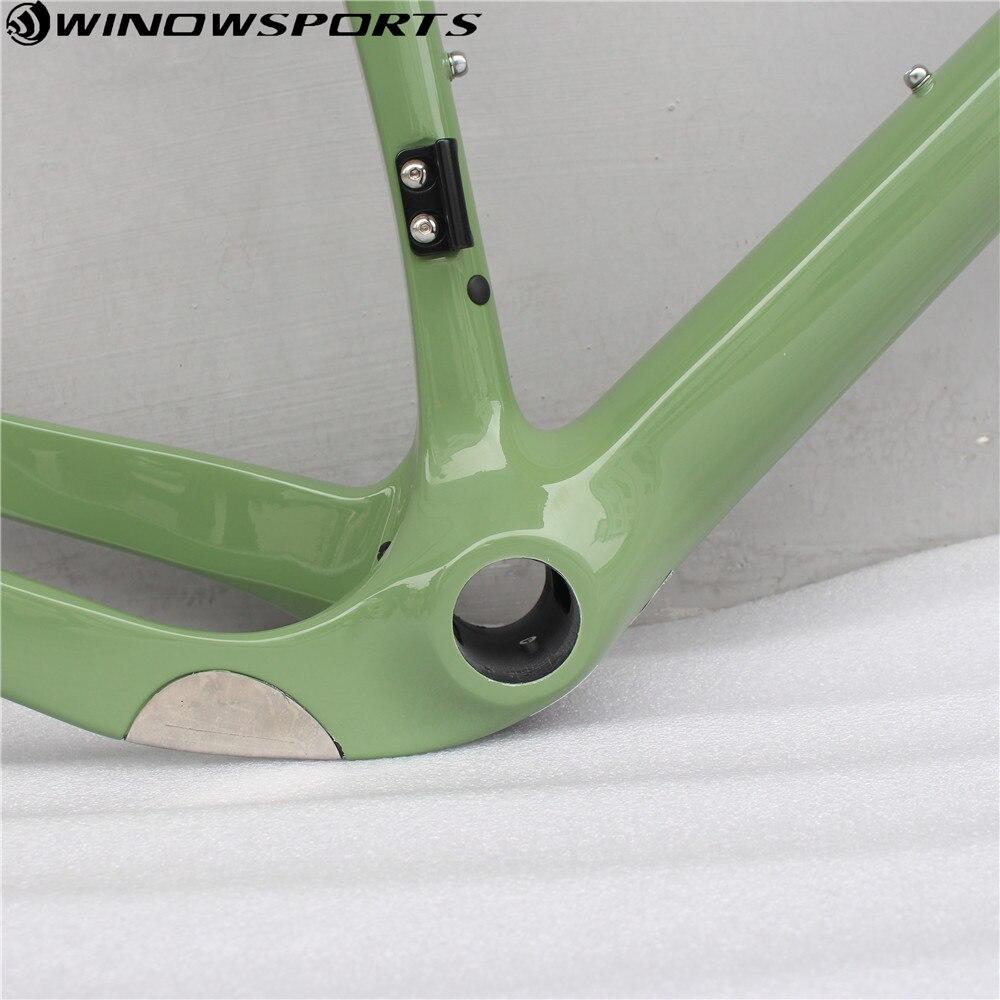 2018 диск углеродный гравий рама для велосипеда полностью углеродная рама для велосипеда дорожный велосипед велосипедная Рама 140 мм дисковый...