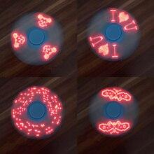 Batman LED Fidget Spinner EDC Anti Stress Toys Finger Spinner Brass Hand Spinners Focus KeepToy And