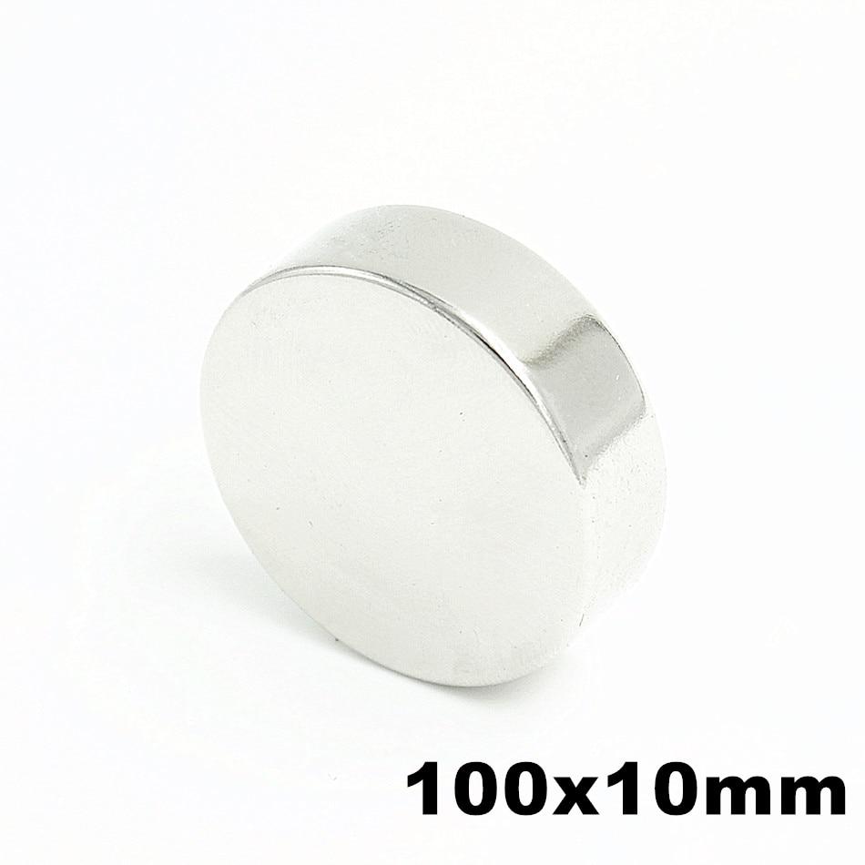 1pcs 100x10mm Super Powerful Strong Bulk Small Round NdFeB Neodymium Disc Magnets Dia 100mm x 10mm N35 Rare Earth NdFeB Magnet цена