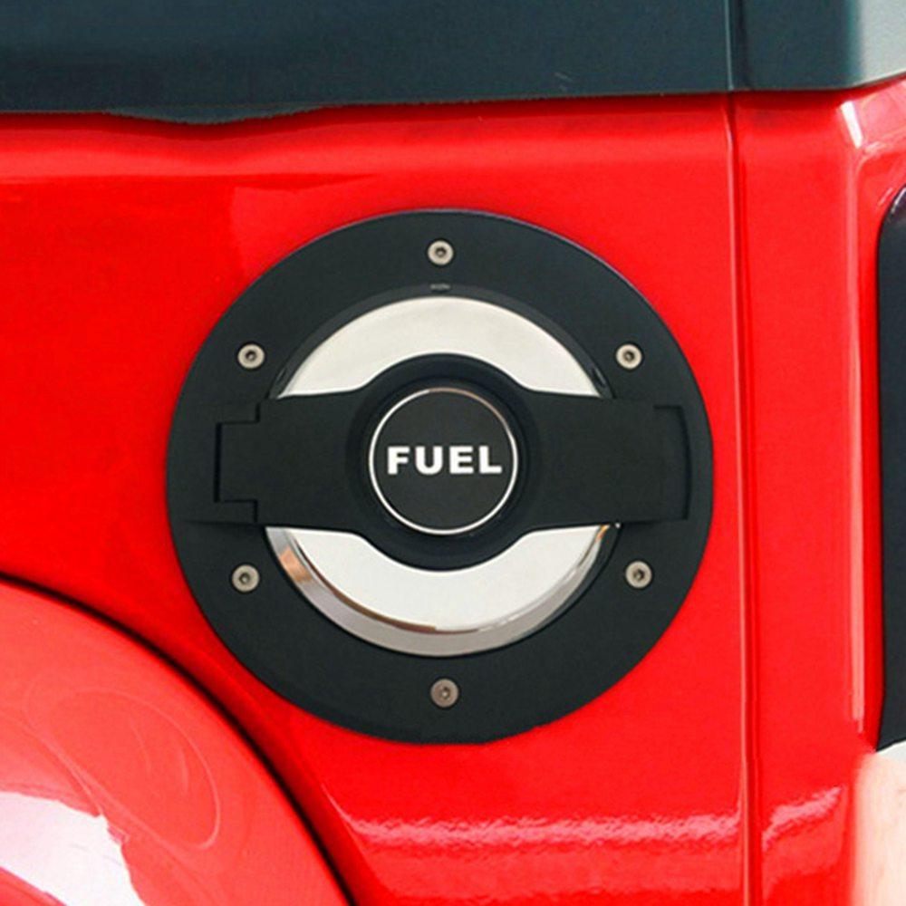 Gas Tank Door Cover Cap Security Lock Key Safe For 2007-2017 Jeep Wrangler JK v