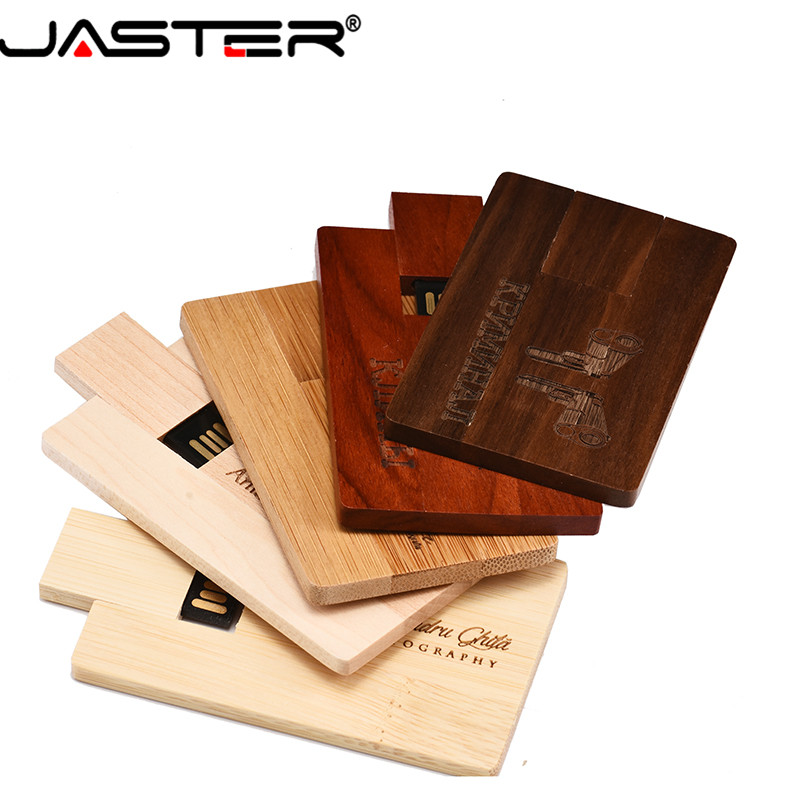 JASTER LOGO Module USB 2.0 Flash Drive Wooden Pendrive 4GB 8GB 16GB 32GB 64GB LOGO Lettering 64GB, Over 1 Pcs Free LOG