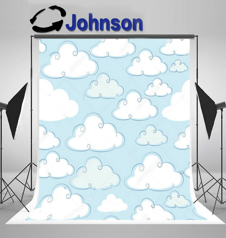 wall backdrop Vinyl cloth High quality Computer print Baby Cloud Blue photo studio background