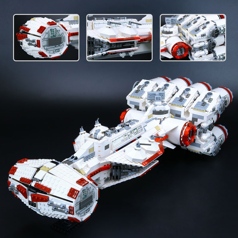Lepin 05046 Star Series The Tantive Model IV Funny Blockade Runner Set legoing 10019 Educational Building Blocks Bricks War Toys taming the star runner
