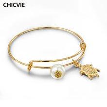 Браслеты манжеты chicvie с черепахой браслеты подвески для женщин