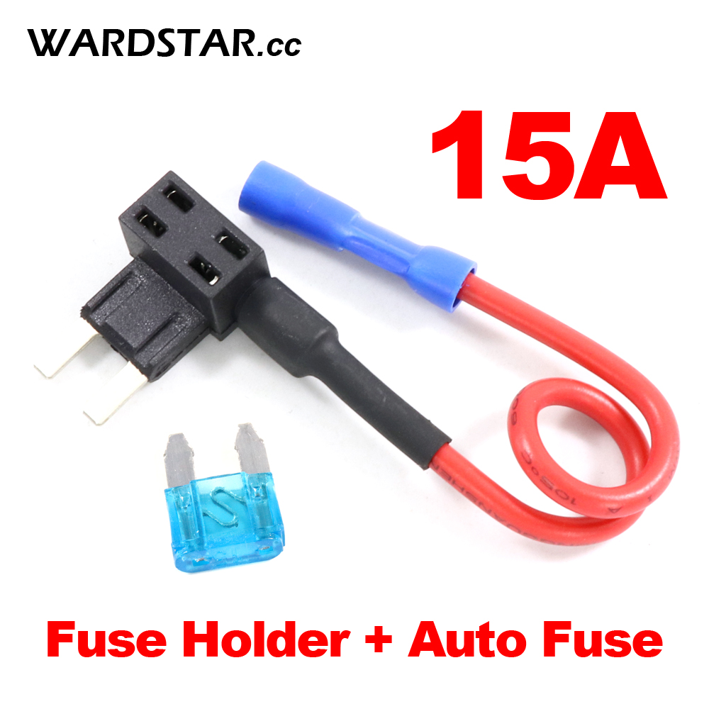 2pair Blade Fuse Low Profile Mini Blade Fuse Holder Auto Car APS for Fast and Quick Install Fuse TAP Adapter 15A 32V