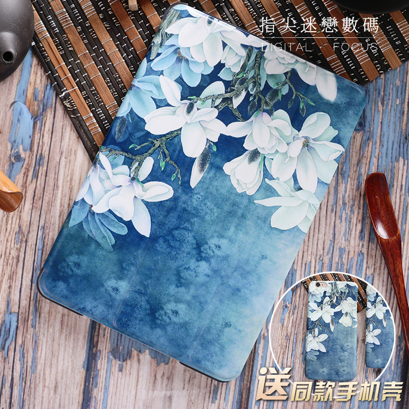 Magnolia Literary Leather Case Smart Cover For iPad Pro 9.7 10.5 tablet Case Flip Cover For ipad Air1 Air2 Mini4 Mini2 9.7 2017 nice soft silicone back magnetic smart pu leather case for apple 2017 ipad air 1 cover new slim thin flip tpu protective case