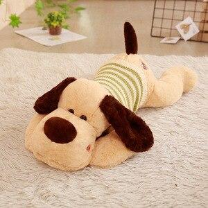 Image 4 - 1PC 70/95/110cm Kawaii Stuffed Soft Plush Toy Giant Lies Prone Dog Doll Cute Pillow Creative Dolls Kids Toys Birthday Gift