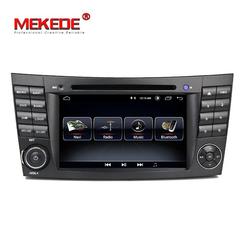 Nouvelle Arrivée! Quad core android 8.0 voiture gps lecteur dvd pour Mercedes Benz Classe E W211 E200 E220 E240 E270 E280 2002-2008 w219